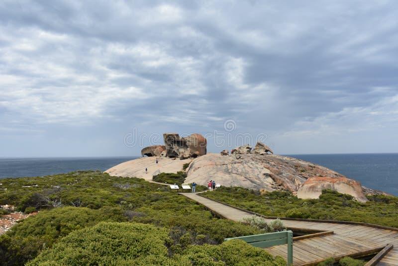 Sentiero costiero notevole delle rocce fotografie stock