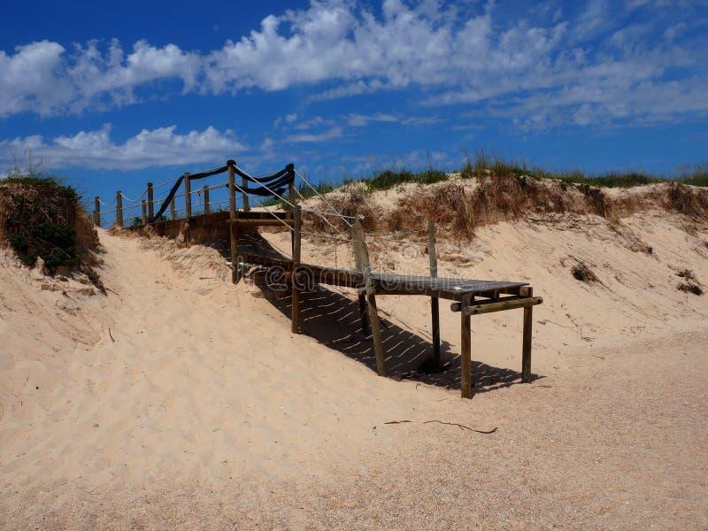 Sentiero costiero su Ilha Da Culatra nella regione di Algarve di Portogallo fotografie stock