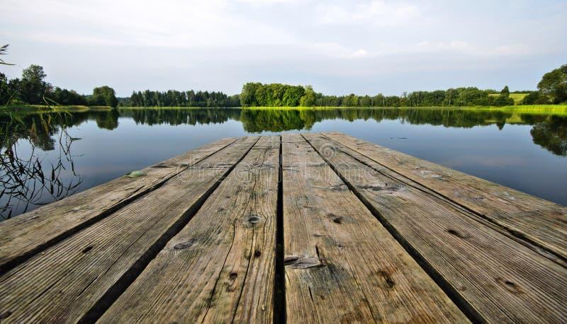Sentiero costiero sul lago immagine stock