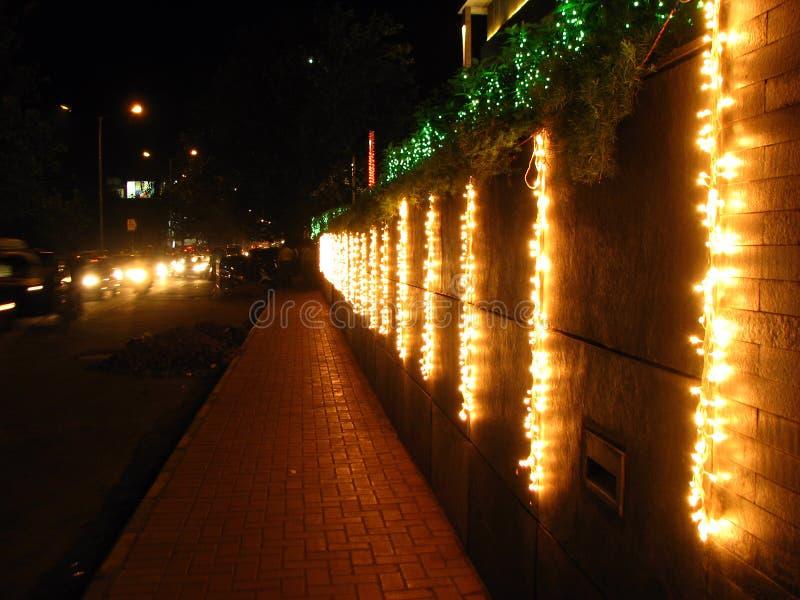 Sentiero per pedoni di Diwali immagine stock libera da diritti