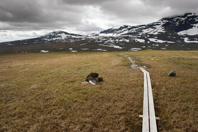 Sentiero per pedoni di Kungsleden immagine stock libera da diritti