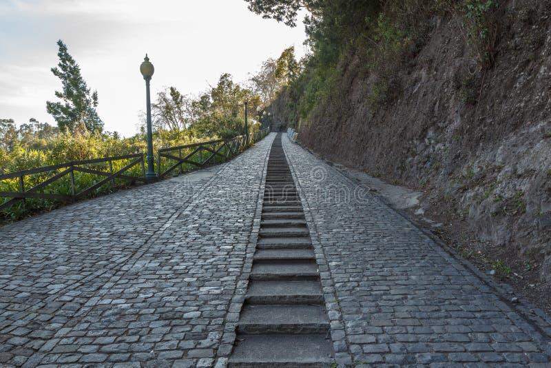 Sentiero per pedoni e scale fotografie stock libere da diritti