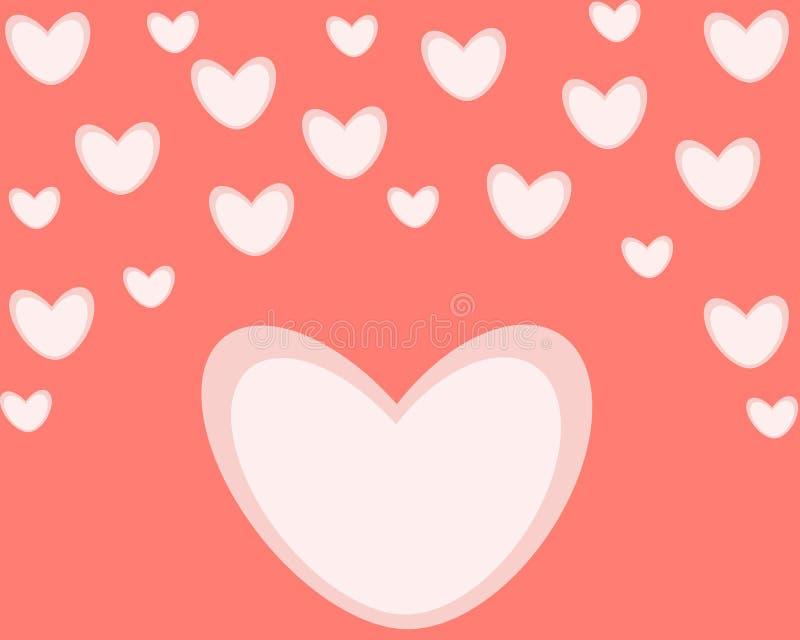 Sentimentos de cumprimento do dia de Valentim do cartão do feriado ilustração stock