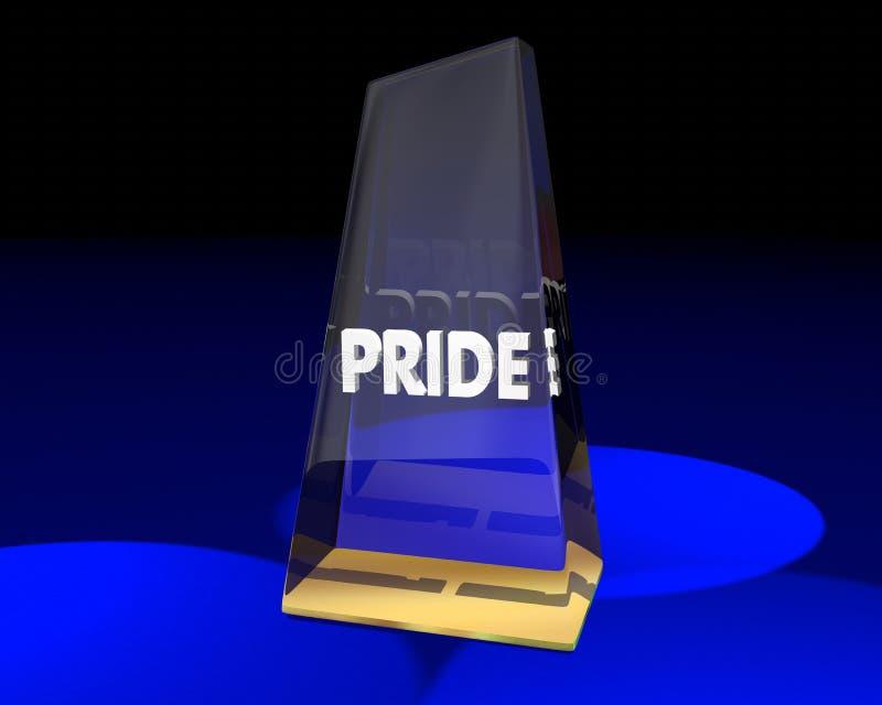 Sentimentos de Pride Award Trophy Winner Proud ilustração royalty free