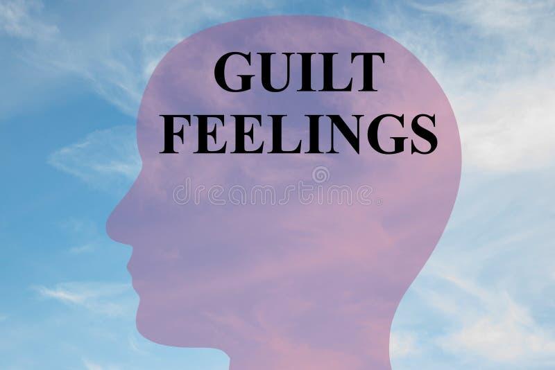 Sentiments de culpabilité - concept mental illustration libre de droits