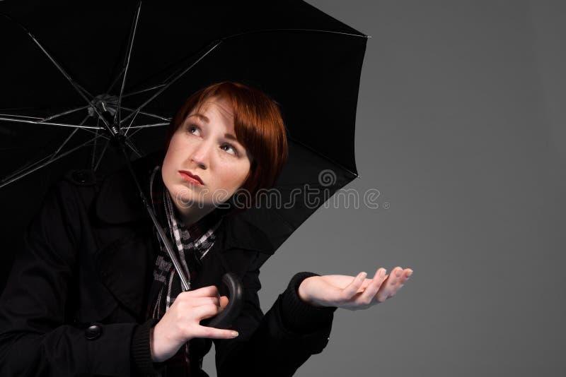 Sentindo isso seu chover fotos de stock