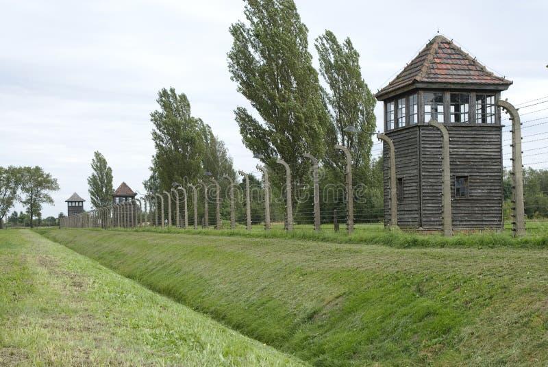 Sentinella di Birkeneau Auscwitz fotografie stock