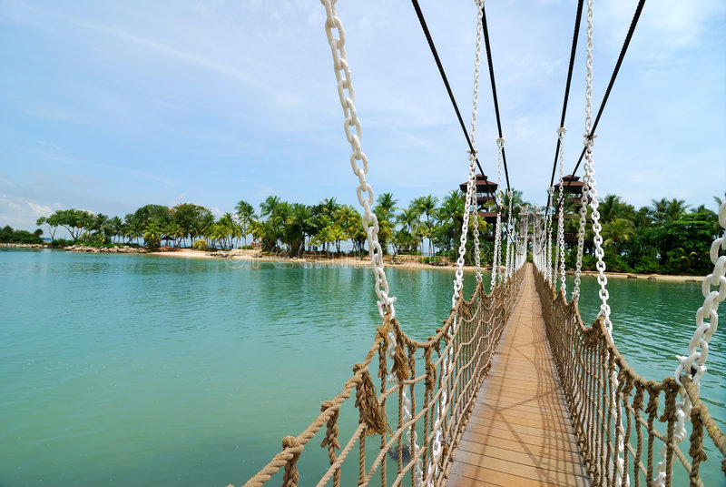 sentosa γεφυρών στοκ φωτογραφία με δικαίωμα ελεύθερης χρήσης