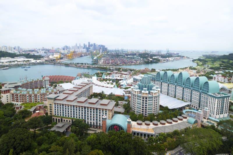 SENTOSA, SINGAPORE - Januari 31 2017: Sentosaeiland in Singapore Bepaal van op het oostelijke Eiland van Singapore de plaats stock fotografie