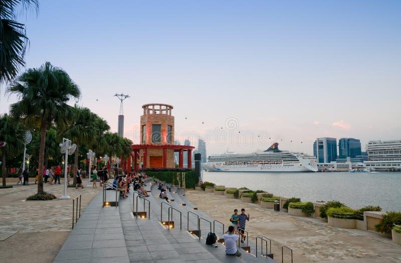 Sentosa Waterfront, Singapore stock image