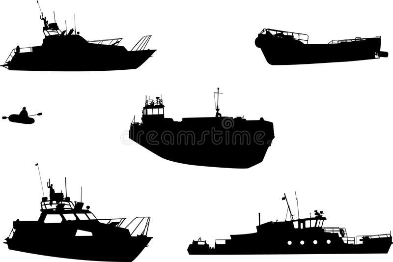 Sentry boat, the barge, launch, inflatable boat, s royalty free stock photography