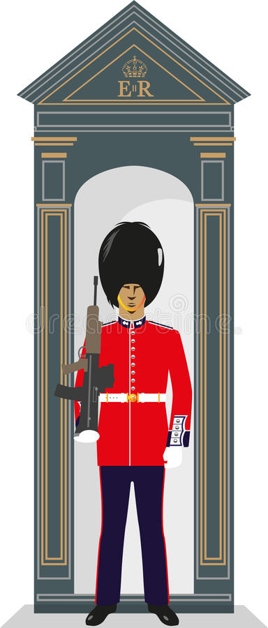 Sentry Box Guardsman royalty free illustration