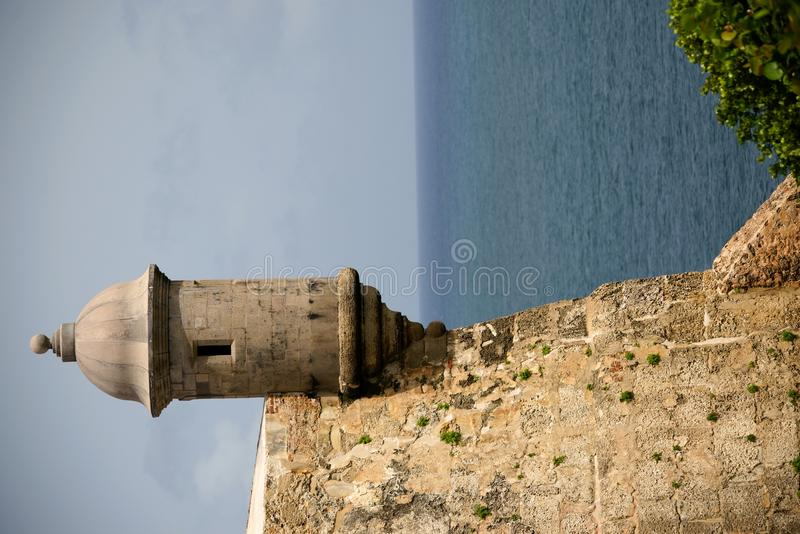Download Sentry tower in San Juan stock photo. Image of coast - 15161102
