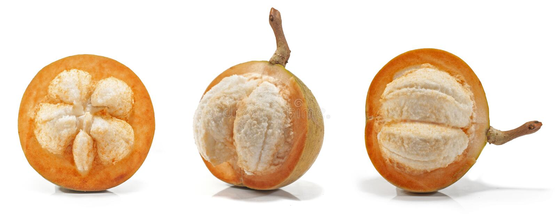 Sentul of sentolfruit op wit stock foto