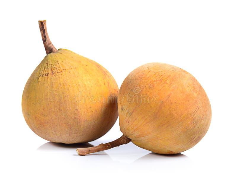 Sentulfruit op witte achtergrond wordt geïsoleerd die stock foto's