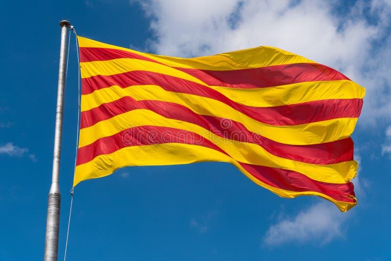 Senyeraen, flagga av Catalonia royaltyfri fotografi