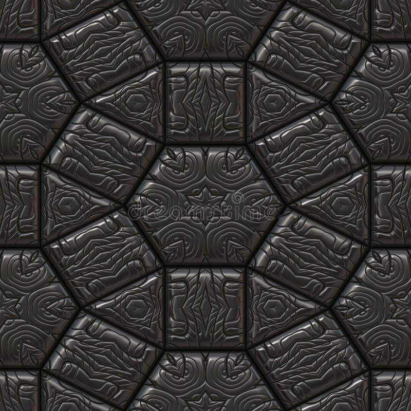 Senza cuciture di pietra maya nero illustrazione vettoriale