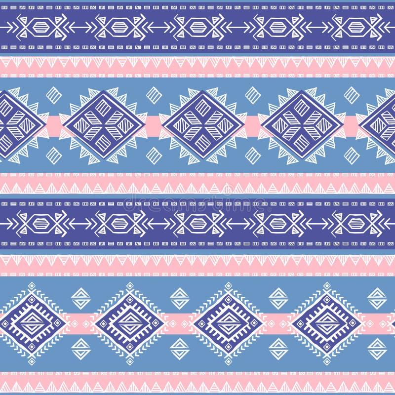 Senza cuciture etnico d'annata tribale illustrazione di stock