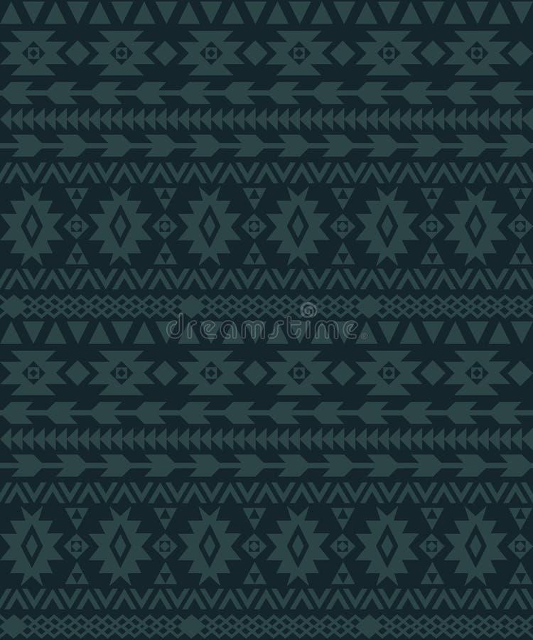 Senza cuciture etnico geometrico dell'ornamento basato sui tappeti royalty illustrazione gratis