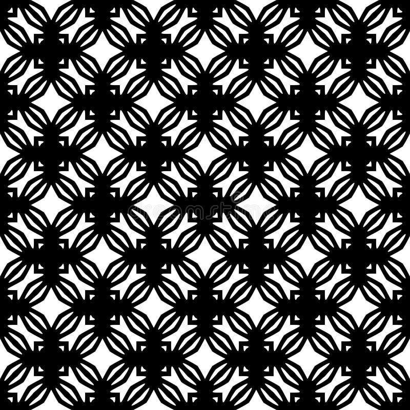 Senza cuciture geometrico di progettazione bianca del nero di vettore royalty illustrazione gratis