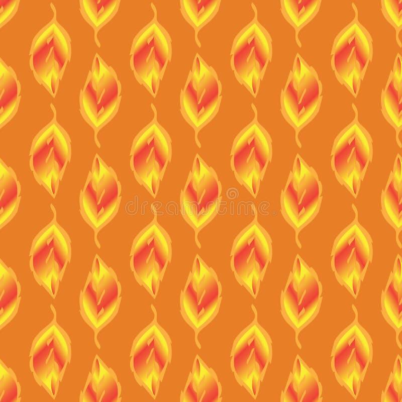 Senza cuciture-modello-de-oro-foglie illustrazione vettoriale