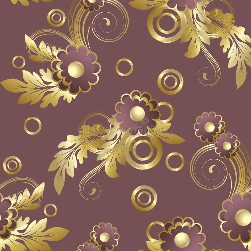 Senza giunte con i fiori del claret illustrazione vettoriale