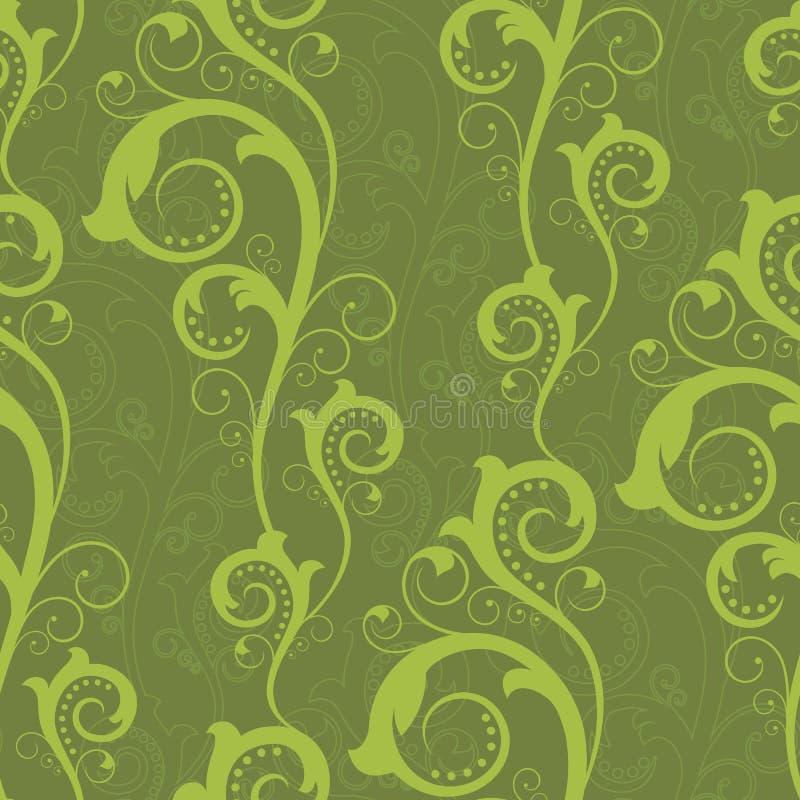 Senza giunte con le piante verdi illustrazione vettoriale