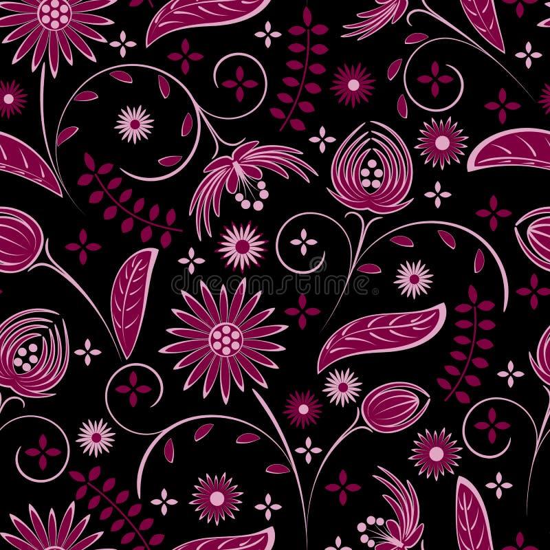 Senza giunte dai fiori illustrazione vettoriale