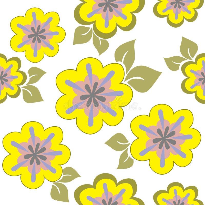 Senza giunte floreale giallo royalty illustrazione gratis