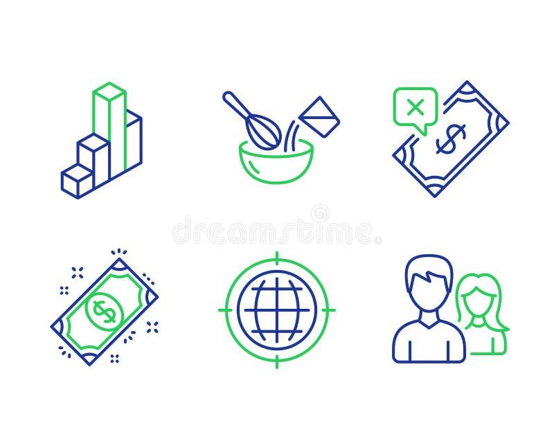 Seo互联网,烹调飞奔和3d图象集合 被拒绝的付款,付款和配合标志 ?? 向量例证