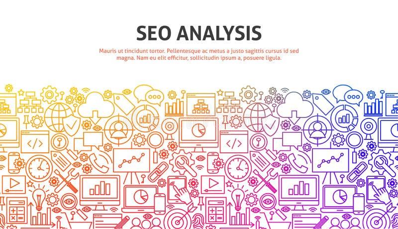 SEO分析概念 向量例证