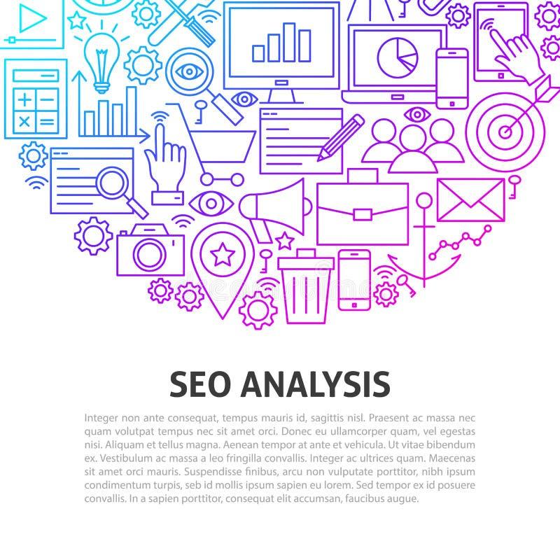 Seo分析线概念 向量例证