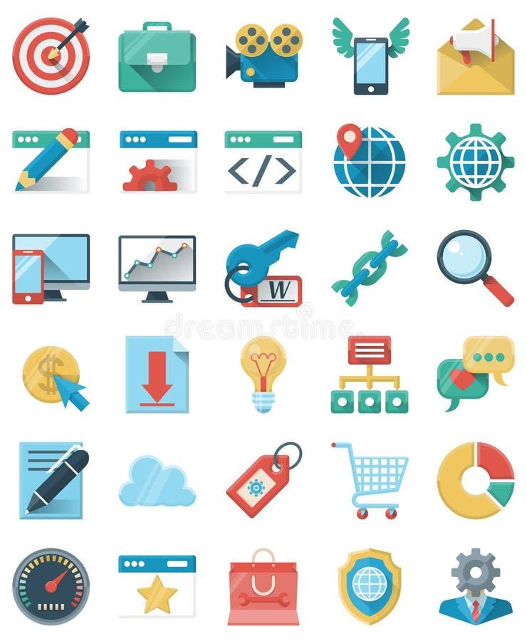 SEO和营销象 向量例证