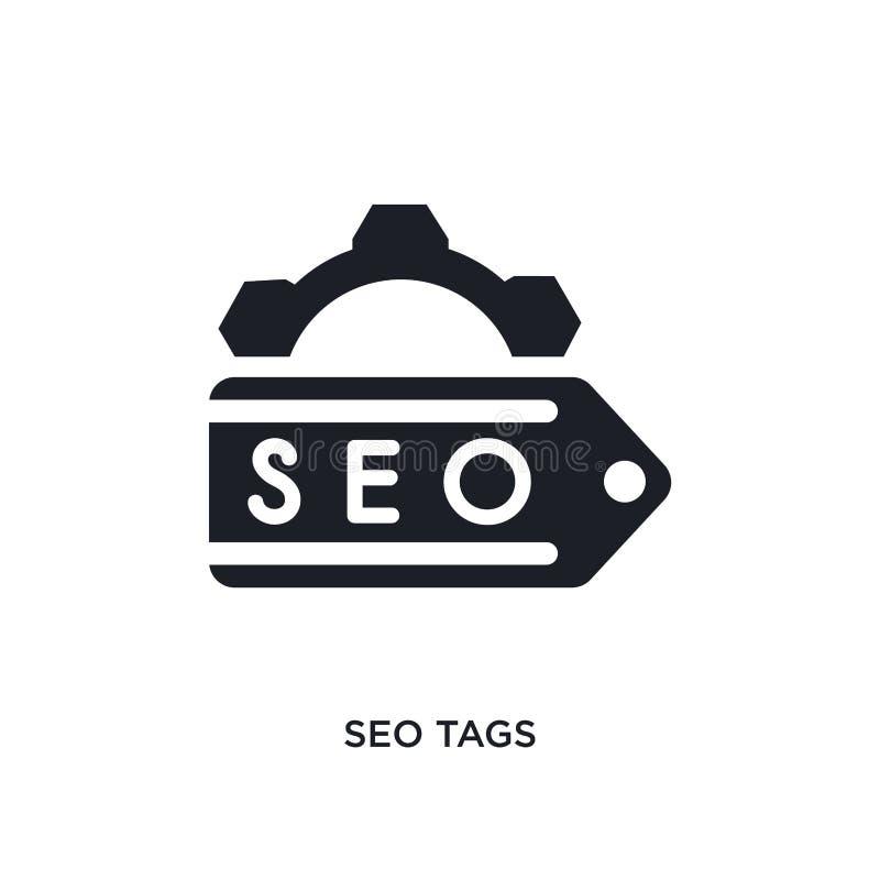 seo маркирует изолированный значок простая иллюстрация элемента от программируя значков концепции seo маркирует editable дизайн с иллюстрация вектора