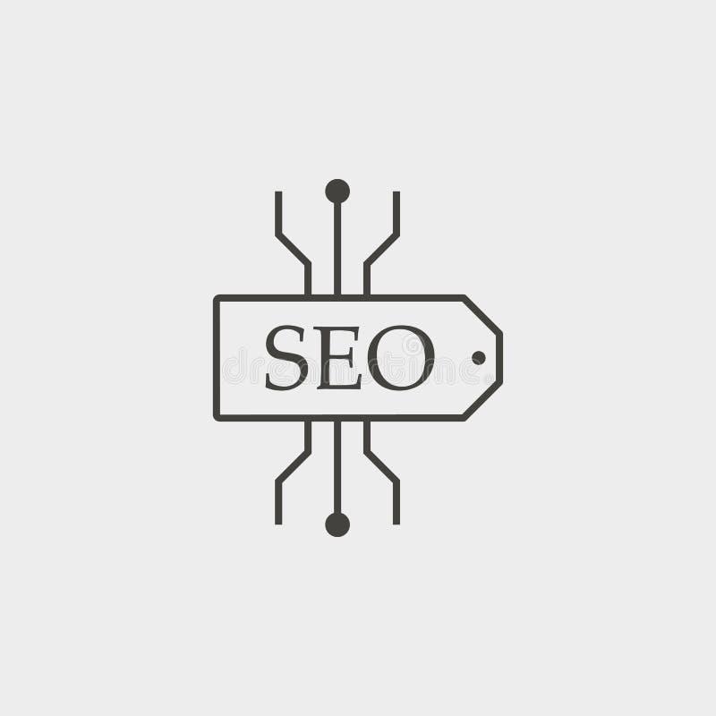 Seo, σχέδιο, περίληψη, εικονίδιο Διανυσματικό εικονίδιο ανάπτυξης Ιστού Στοιχείο του απλού συμβόλου για τους ιστοχώρους, σχέδιο Ι απεικόνιση αποθεμάτων