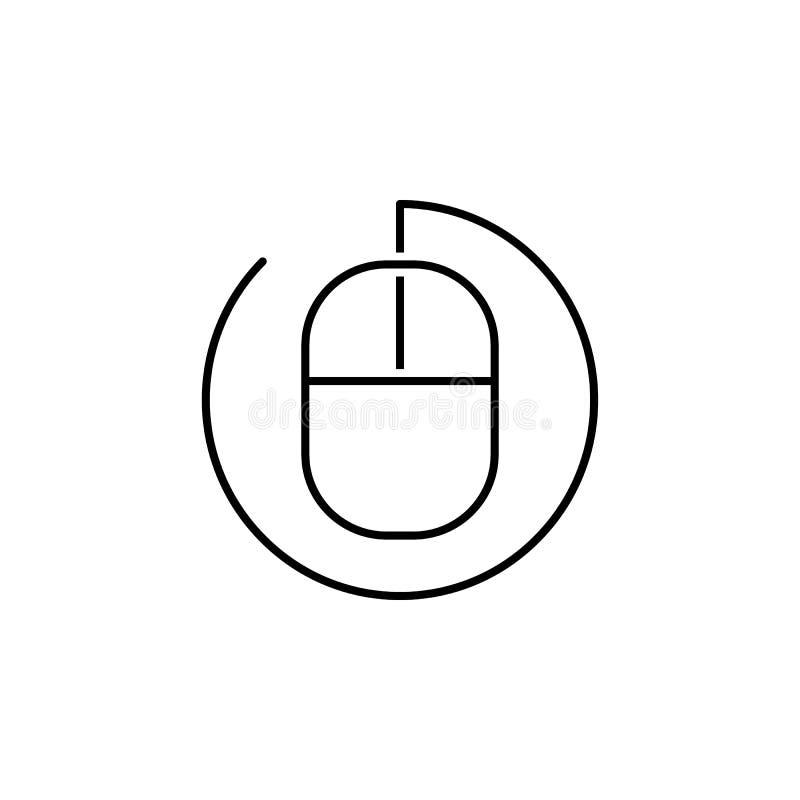 seo дела, линия значок мыши Сыгранность на идее r иллюстрация вектора