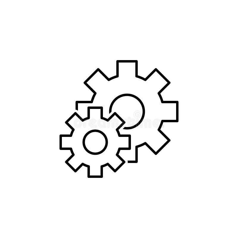 seo дела, установки выравнивает значок Сыгранность на идее r иллюстрация вектора