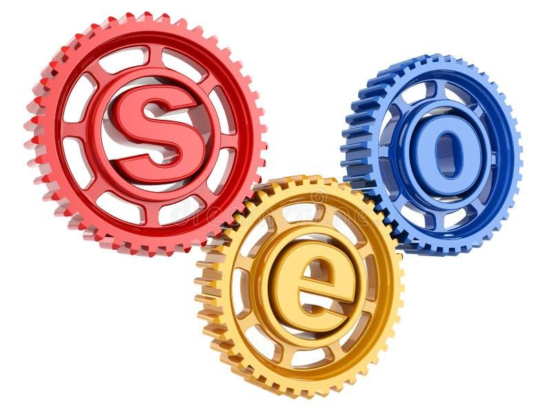 SEO. Оптимизирование поисковой системы. Схематическое изображение. бесплатная иллюстрация