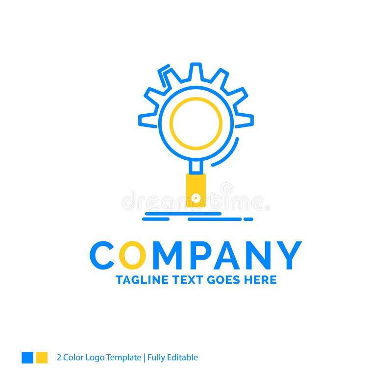 seo, поиск, оптимизирование, процесс, дело установки голубое желтое иллюстрация штока