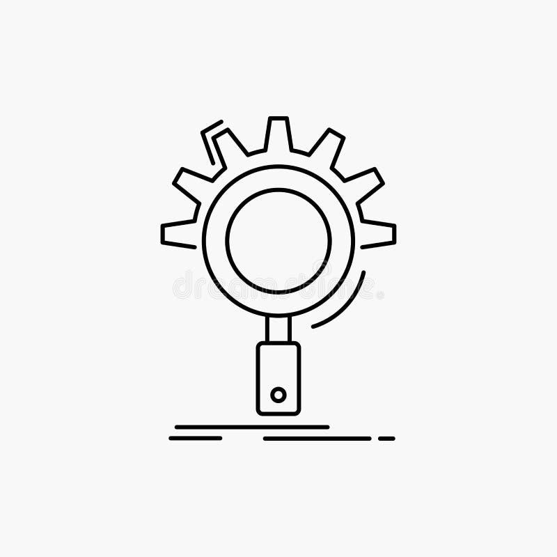 seo, поиск, оптимизирование, процесс, устанавливая линию значок r иллюстрация вектора