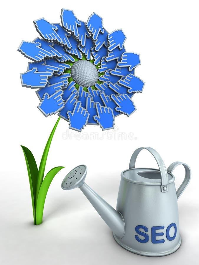 seo цветка иллюстрация штока
