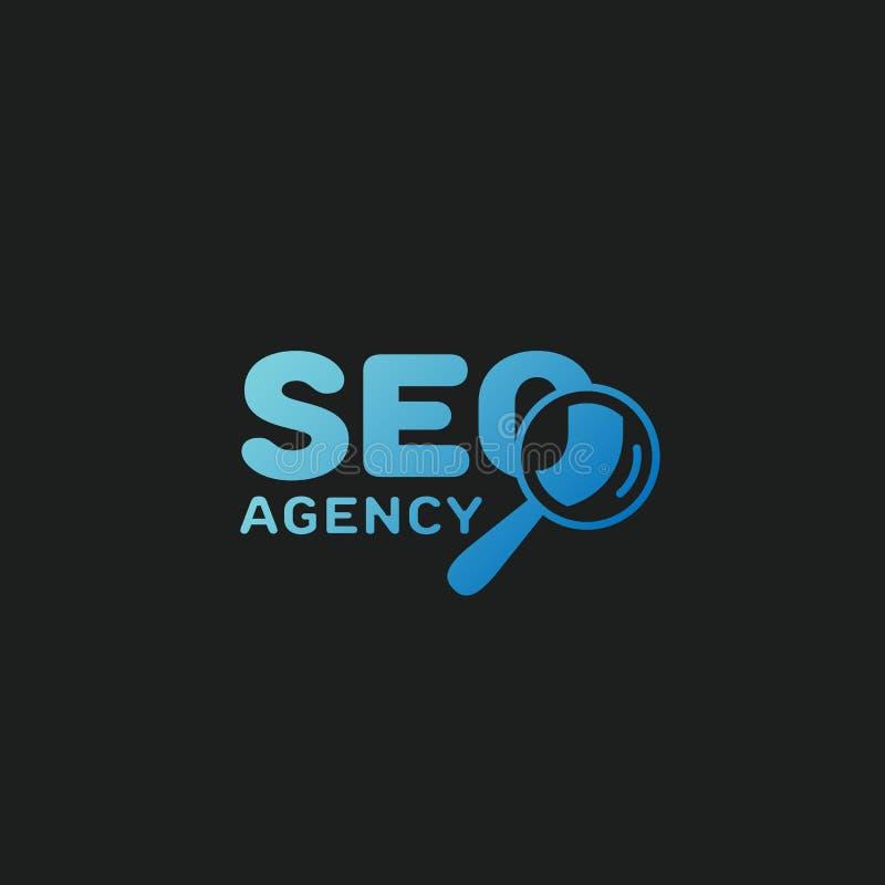 Seo agenci logo royalty ilustracja