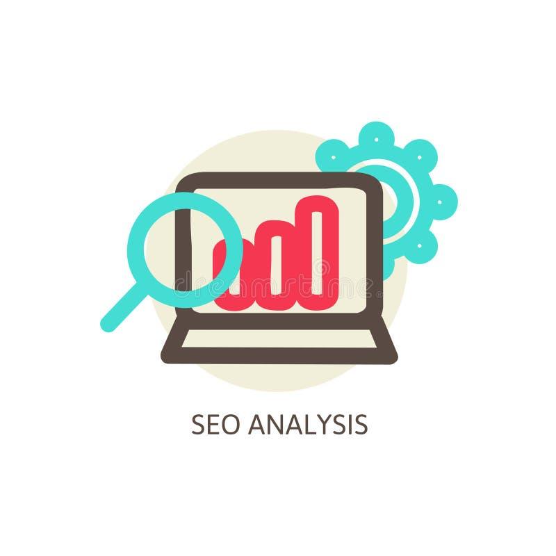 SEO analysis process vector concept vector illustration