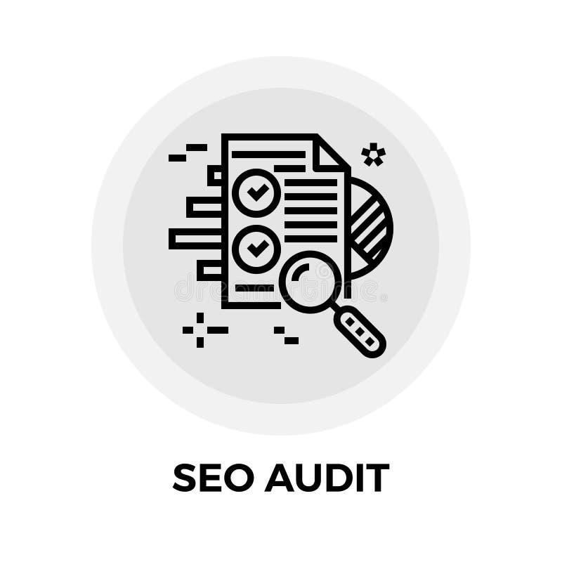 SEO Audit Line Icon royaltyfri illustrationer