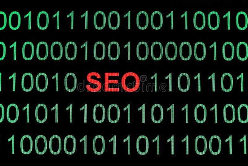 Seo on binary data. A Seo on binary data stock photography