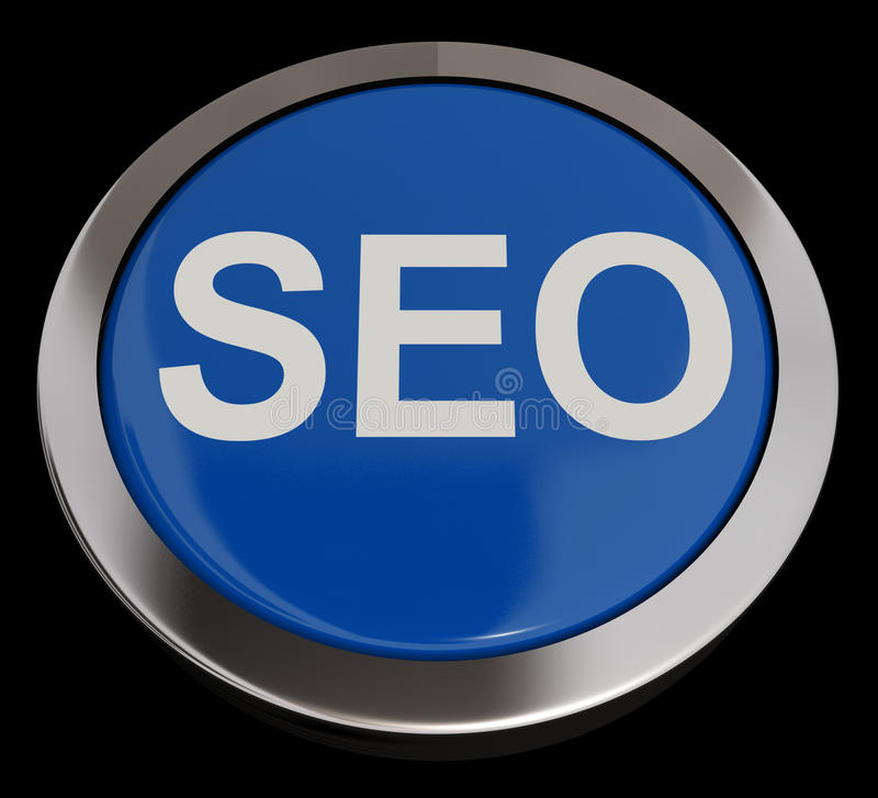 Download SEO Button In Blue Showing Internet Marketing And Optimization Stock Photography - Image: 24615772