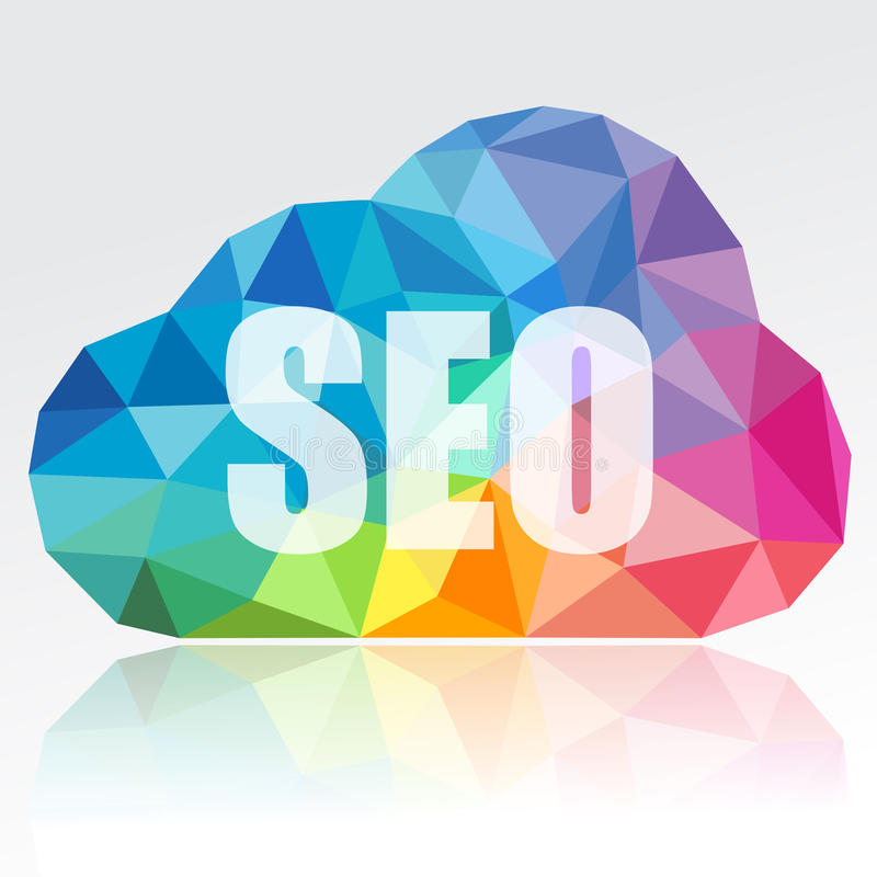 SEO Cloud stock illustrationer