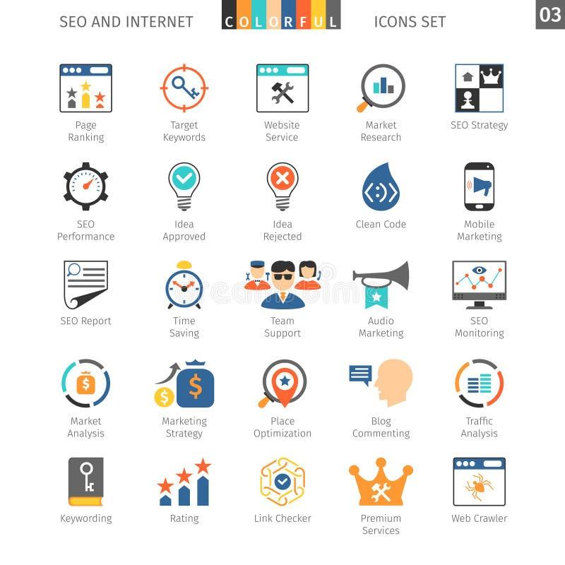 SEO Colorful Icon Set 03 stock illustratie