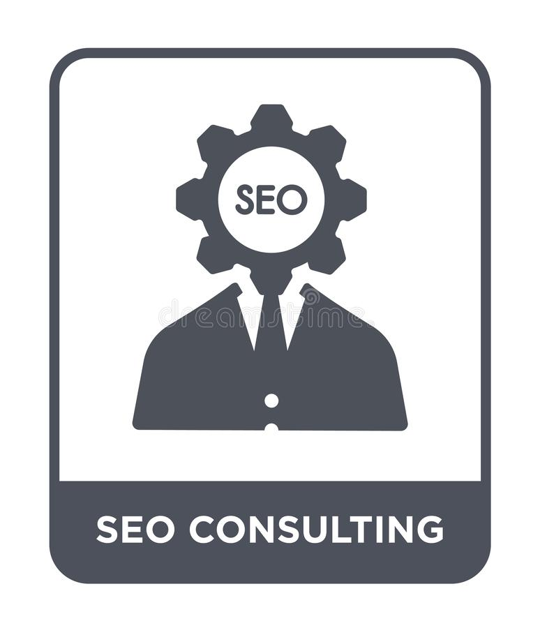 seo consulting icon in trendy design style. seo consulting icon isolated on white background. seo consulting vector icon simple vector illustration
