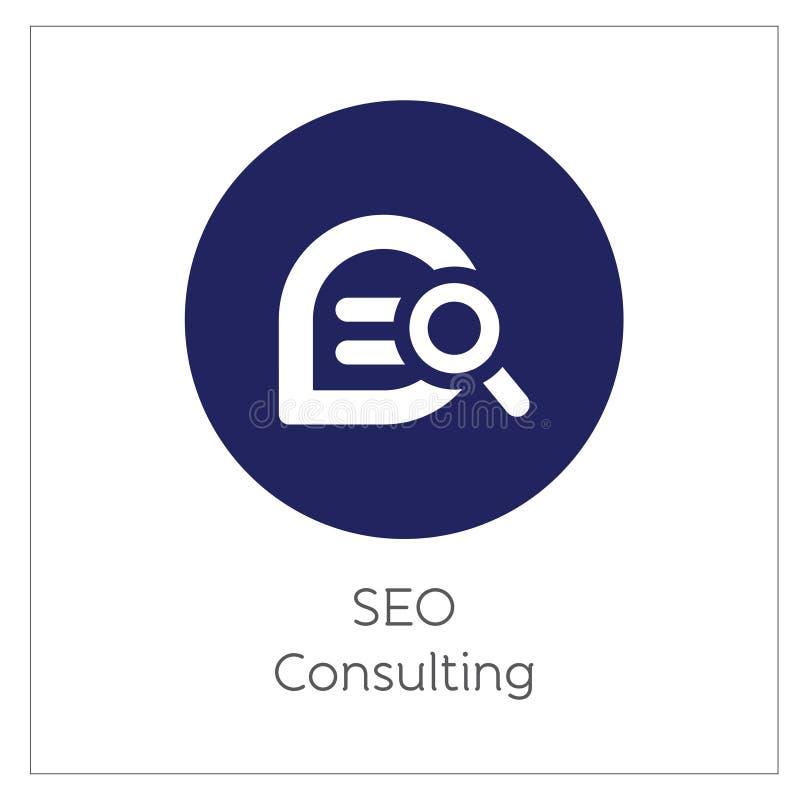 SEO Consulting Simpel Логотип Icon Vector Iluстрация иллюстрация вектора